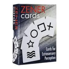 Zener cards (экстрасенсорное восприятие) 25карт